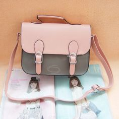 ba253d9afd Wholesale Vintage PU Women s Slanting Bag With Buckle and Covered Design  (PINK)
