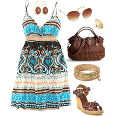 Brown, Turquoise and Gold