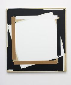 "Joachim Grommek, ""o.T."", 2007, Lack, Acryl, Öl, Grundierung auf Spanplatte, 50 x 50 cm"
