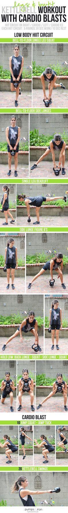 Butt & Legs Kettlebell Workout with Cardio | Posted By: CustomWeightLossProgram.com