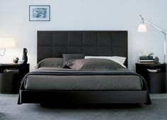 modern super king beds with nightstand sets
