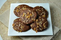 Toasted coconut fudge brownie cookies, More Sweets Please