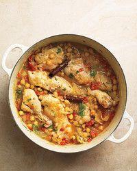 Everyday Food African chicken and Peanut stew Martha Stewart -- add a red & green pepper
