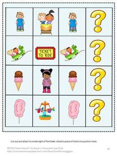 File Folder Games: Amusement Parks can be fun for everyone but children seem to enjoy them the most. With this Fun At The Amusement File Folder Games, students can enjoy the fun of the rides and the snacks as they practice their counting, letter matching, color matching and sorting skills. This set consists of 29 pages