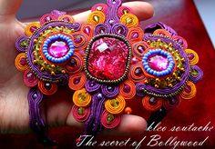 Sutasz Kleo /Soutache jewellery: Bransoletka sutasz Bollywood