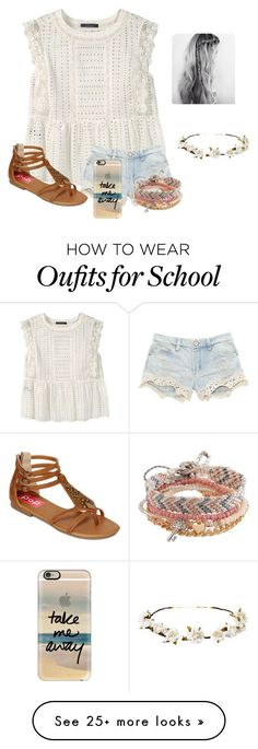 """""""School is so"""" by raquate1232 on Polyvore featuring Violeta by Mango, POP, Aéropostale, Cult Gaia and Casetify"""