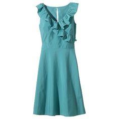 TEVOLIO™ Women's Ruffle V-Neck Taffeta Dress - ... : Target Mobile