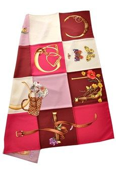 GUCCI MILLENNIUM Fuchsia Butterfly Twill Scarf - ACCESSORIES | SCARVES | Silk Scarves | PRET-A-BEAUTE.COM Printed Scarves, Silk Scarves, Silk Painting, Scarfs, Candies, Gucci, Butterfly, Pattern, Prints