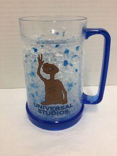 Universal Studios ET Crystal Freezer Beer Mug Cup Glass