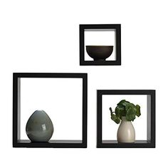 Harbortown3pc Wall Cube Display Shelf Set Square Decorative Floating Shelves * Be sure to check out this awesome product.-It is an affiliate link to Amazon. #FloatingShelves