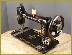 Singer Sewing Machine In Cabinet Table Electric Vintage
