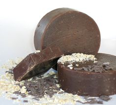 Chocolate and Oatmeal Scrub Cold process Soap