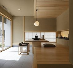 One of the most popular interior design for home is modern. The modern interior will make your home looks elegant and also amazing because of its natural material. If you want to design your home inte Modern Japanese Interior, Japanese Minimalism, Modern Interior Design, Interior Design Kitchen, Interior Design Inspiration, Interior Styling, Interior Architecture, Minimalist Architecture, Interior Ideas