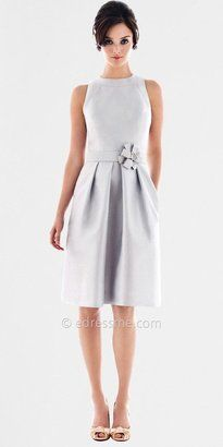 ShopStyle: High Neck Cocktail Length Dupioni Bridesmaid Dresses by Alfred Sung from Dessy Group