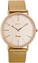 Oozoo Ultra Slim Vintage Uhr C7399 - rose - 36 mm - Meshband