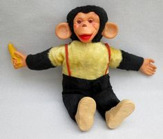 "Bim Stuffed Toy Monkey With Bananna There was also a Monkey like this called ""Zippy"" in the that was popular. My monkey looked just like this but he was all black."