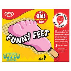 Funny Feet ice cream returns: 10 other retro products now making a comeback 1980s Childhood, My Childhood Memories, School Memories, Sweet Memories, 80s Sweets, 80s Food, Retro Food, 80s Kids, Kids Tv