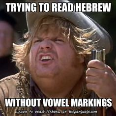 And hats off to Robert with Melek Design for the meme! Send us your Hebrew memes… Hebrew Writing, Biblical Hebrew, Hebrew Words, Jewish Humor, Learning A Second Language, Learn Hebrew, Religion, Language Study, Word Study
