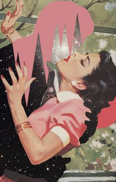 He Promised Me The Galaxy - Digital collage by Ashley Joesph Edwards