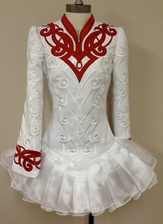 Irish Dance Solo Dress Costume by Prime Design. Another mostly white dress daughter loves
