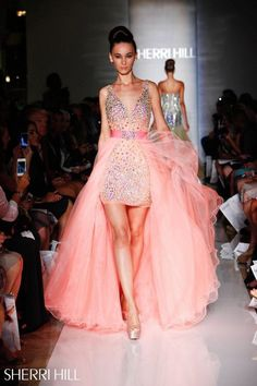 Image via We Heart It #blush #brodery #Couture #crystal #dress #flowers #luxury #Prom #romantic #runway #satin #tulle #sherrihill
