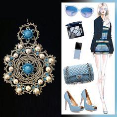 Dusk Blue #summer #fashionideas #chanel
