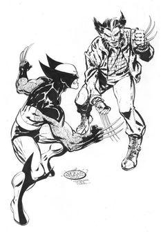 Wolverine Vs Wolverine commission by John Byrne. 2015.
