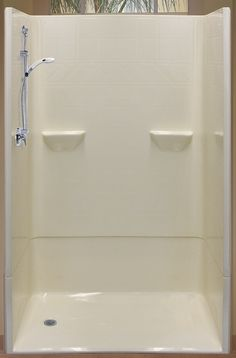 Shower. Replace your tub with a walk in shower and weighted shower curtain.