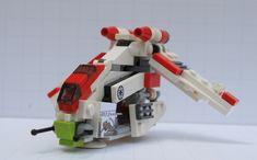 "LEGO IDEAS - Product Ideas - Lego® Star Wars™ Mini Republic Gunship - Nexu ""Bad Kitty"" Star Wars Boba Fett, Star Wars Clone Wars, Star Wars Art, Lego Star Wars, Star Trek, Bad Cats, Bad Kitty, Republic Gunship, Lego Kits"