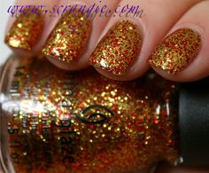 hunger games nail polish collection! totally need this one for FSU games!!