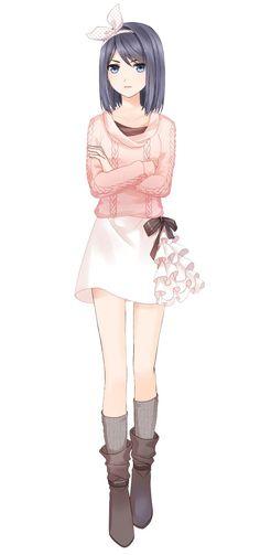 ♥(Otana) i found a sister for kags haikyuu:) Anime Chibi, Chica Anime Manga, Got Anime, Anime Love, Manga Girl Drawing, Manga Art, Kawaii Anime Girl, Anime Art Girl, Anime Girls