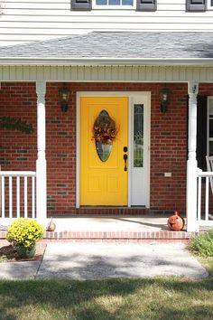 104 best yellow front doors! images on Pinterest | French doors ...