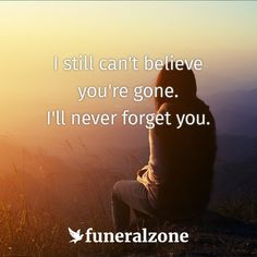 Grief & Bereavement Quotes - I still can't believe you're gone.