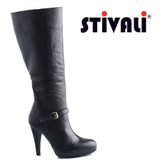 Ven a Stivali y encuentra estas botas elaboradas en cuero negro con tacón alto y plataforma. Recuerda que los miércoles hay 20% de descuento, pagando con American Express. #americanexpress #leather #boots http://www.elretirobogota.com/esp/?dt_portfolio=stivali