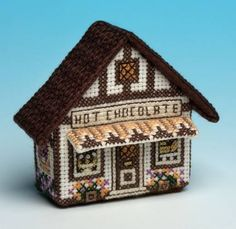 Hot Chocolate Fridge Magnet Cross Stitch Kit only Cross Stitch House, Cross Stitch Books, Cute Cross Stitch, Beaded Cross Stitch, Counted Cross Stitch Kits, Cross Stitch Designs, Cross Stitch Embroidery, Embroidery Patterns, Cross Stitch Patterns