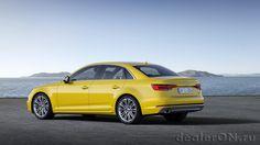Седан Audi A4 2016 / Ауди А4 2016 – вид сбоку