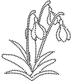 sneeuwklokjes Embroidery Cards, Hand Embroidery Designs, Embroidery Patterns, Dot Painting, Painting Patterns, Card Patterns, Beading Patterns, String Art Tutorials, St Patrick's Day Crafts