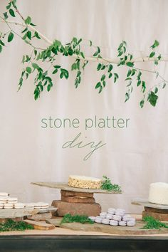 Planning a rustic wedding reception? Learn how you can easily DIY this rustic looking stone platter for your wedding reception! #diyweddingtutorial #diyweddingideas #weddingdiy #budgetweddingideas