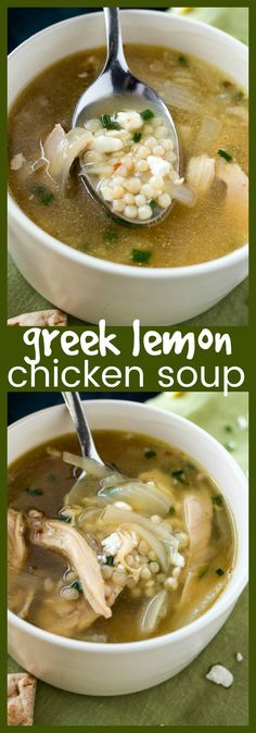 Greek Lemon Chicken Soup | Posted By: DebbieNet.com