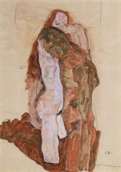Egon Schiele Woman and Man.
