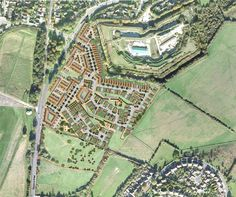 Set in a pivotal location between Rochester and Chatham, Horsted Park is a mixed-use, mixed-tenure development set in a suburban context across twenty acres of land. Architecture Collage, Master Plan, City Photo, Urban Design, Acre, Architects, Heartland, House Ideas, Inspiration
