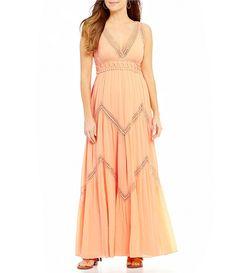768c97cc5c5 Chelsea   Violet V-Neck Sleeveless Chevron Maxi Dress Modern Outfits
