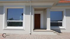 Proiect casa rezidentiala Corbeanca 3 – Profile Decorative Village House Design, Village Houses, House Foundation, Design Case, Architect Design, House Plans, Exterior, Windows, Home Decor