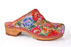 Floral Fabric | SANITA Clogs