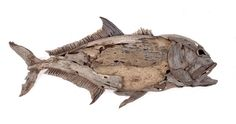 The GT one of the toughest fish to land, driftwood sculpture by Tony Fredriksson
