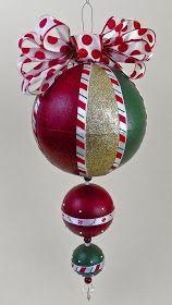 Lisa Liza Lou Designs: Giant Christmas ornament with Americana Multi-Surface paints