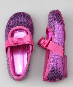 Sweet as can be, these ballet flats are simply fabulous. Pick up these sequined shoes for the pretty princess who deserves only the most precious pair.Man-madeImported