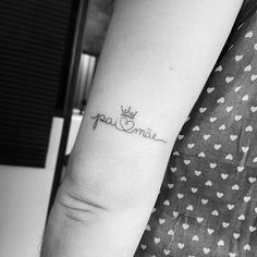 Mum And Dad Tattoos, Tattoos With Kids Names, Bff Tattoos, Infinity Tattoos, Future Tattoos, Rose Tattoos, Flower Tattoos, Small Tattoos, Tattoos For Women