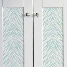 Animal Print and Zebra Stripes Furniture and Craft Stencils - Royal Design Studio