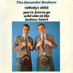 """7"""" 45RPM Nobody's Child/You're Free To Go/Wild Side Of Life/Jealous Heart EP by The Alexander Brothers from PYE"""